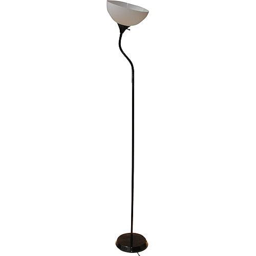 Mainstays 71'' Jelly Gooseneck Floor Lamp, Black