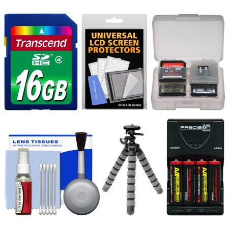 Essentials Bundle for Sony Cyber-Shot DSC-H300 Digital Camera with 16GB Card + Batteries & Charger + Flex Tripod + Kit