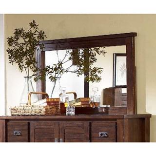 Rectangular Mirror in Mesquite Pine Finish by Overstock