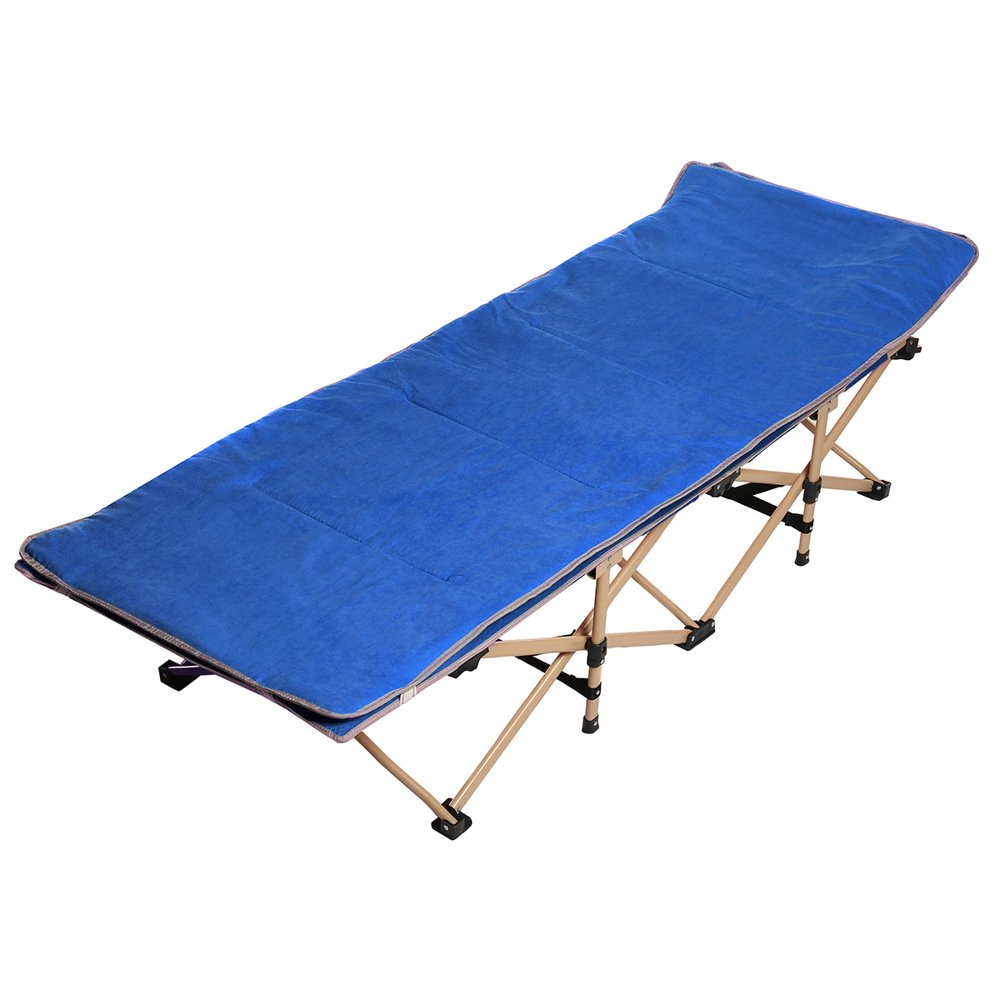 Folding Camping Cots for Adults, Double Layer Oxford ...