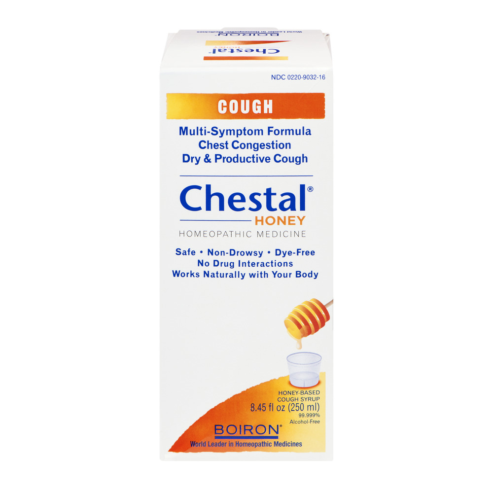 Boiron Chestal Honey Homeopathic Cough Syrup, 8.45 FL OZ