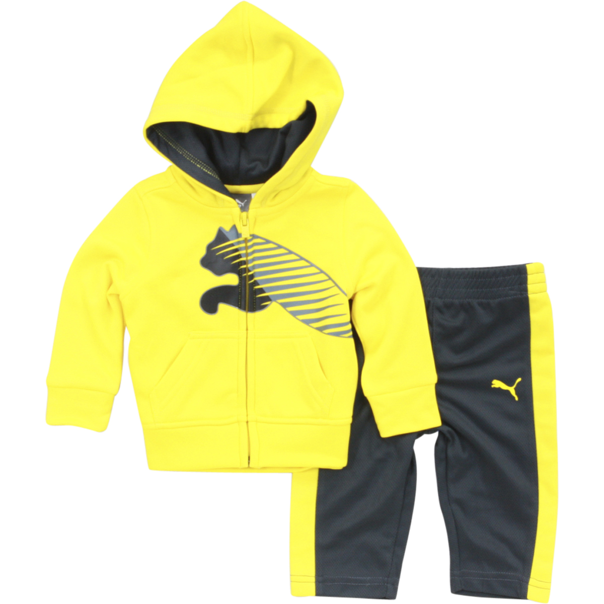 PUMA Little Boys Full-Zip Fleece Hoodie