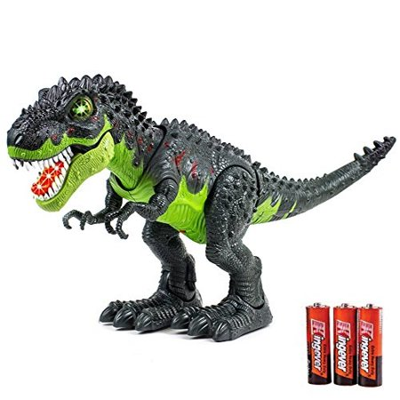 Toysery Tyrannosaurus T-Rex Walking Dinosaur with Lights and Realistic Sounds, Dinosaur Toy for Kids, Battery Operated Color May Vary.(Colors May Vary)