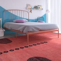 Your Zone Metal Windsor Full Bed, Rose Gold