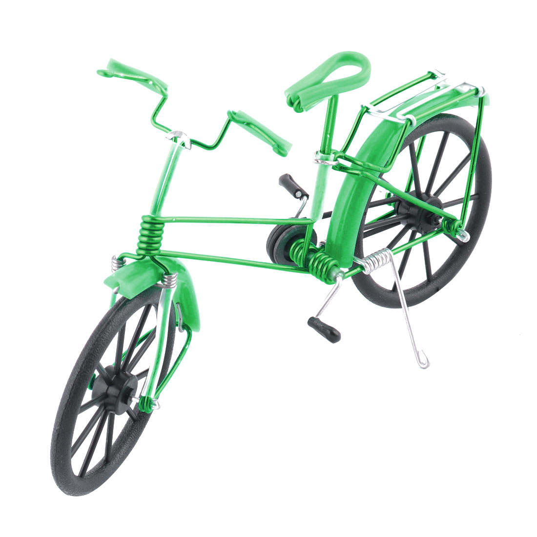 Aluminium Alloy Vintage Style Table Decor Handmade Toy Gift Bicycle Model Green