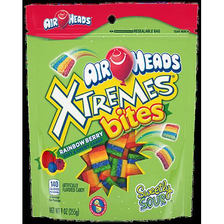 (3 Pack) Airheads, Rainbow Berry Xtremes Bites, 9 Oz (Rainblow Gum)