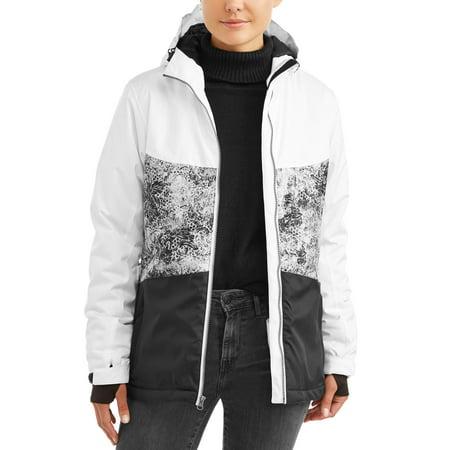 Iceburg Women's Patterned Insulated Ski Jacket (Warmest Ski Jacket Women)