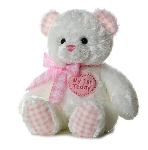 "Plush Baby 14"" Pink My First Teddy Bear, realisitc styling By Aurora by"