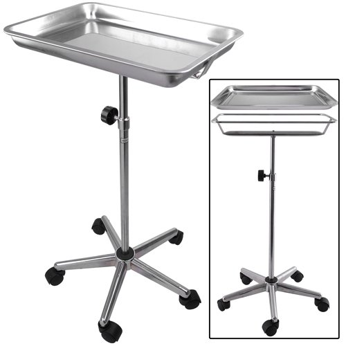 Mayo Instrument Stand with Removable Tray 5 Legs