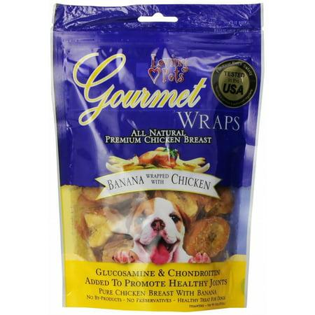 Loving Pets Gourmet Banana & Chicken Wraps 2.25Lb (6 x 6oz)