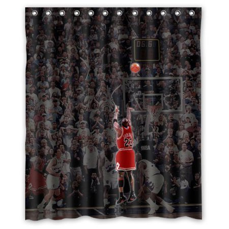 DEYOU Michael Jordan Cool Shower Curtain Polyester Fabric Bathroom Size 60x72 Inches