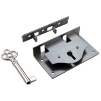 Steel Half Mortise Chests or Boxes Lid Lock W/ Key - For Furniture that Closes From the Top - S-10