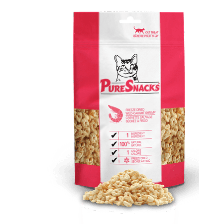 PureSnacks Shrimp Freeze Dried Cat Treats, .042 oz.