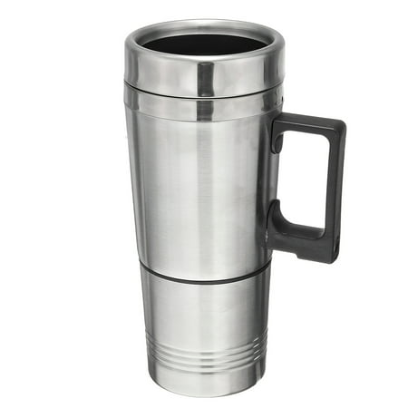 12V 304 Stainless Steel and Food Grade Material Car Stainless Steel Cigarette Lighter Heating Kettle Mug Electric Travel Thermoses Water Coffee Cup  - image 9 of 13