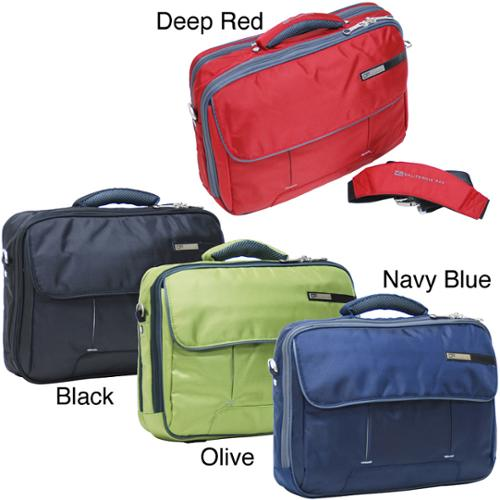 CalPak 'Magno' 16-inch Deluxe Laptop Briefcase deep red