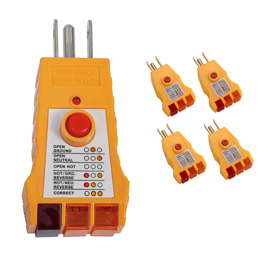 5 GFI Electric Outlet Receptacle Tester Analizer Plug Circuit Electrical 3Prong