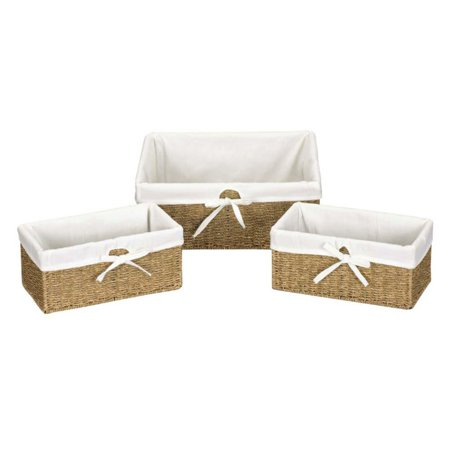 Household Essentials Seagrass Utility Baskets - Set of 3