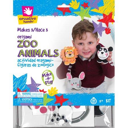 Zoo Animals Origami Craft Kit 3/Pkg- (Zoo Craft)
