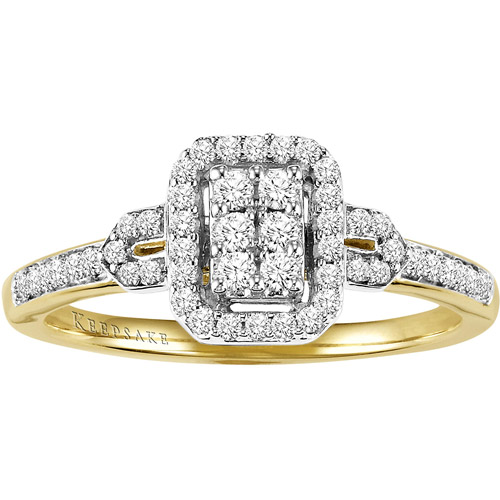 Keepsake Attraction 1/4 Carat T.W. Diamond Engagement Ring in 10kt Yellow Gold
