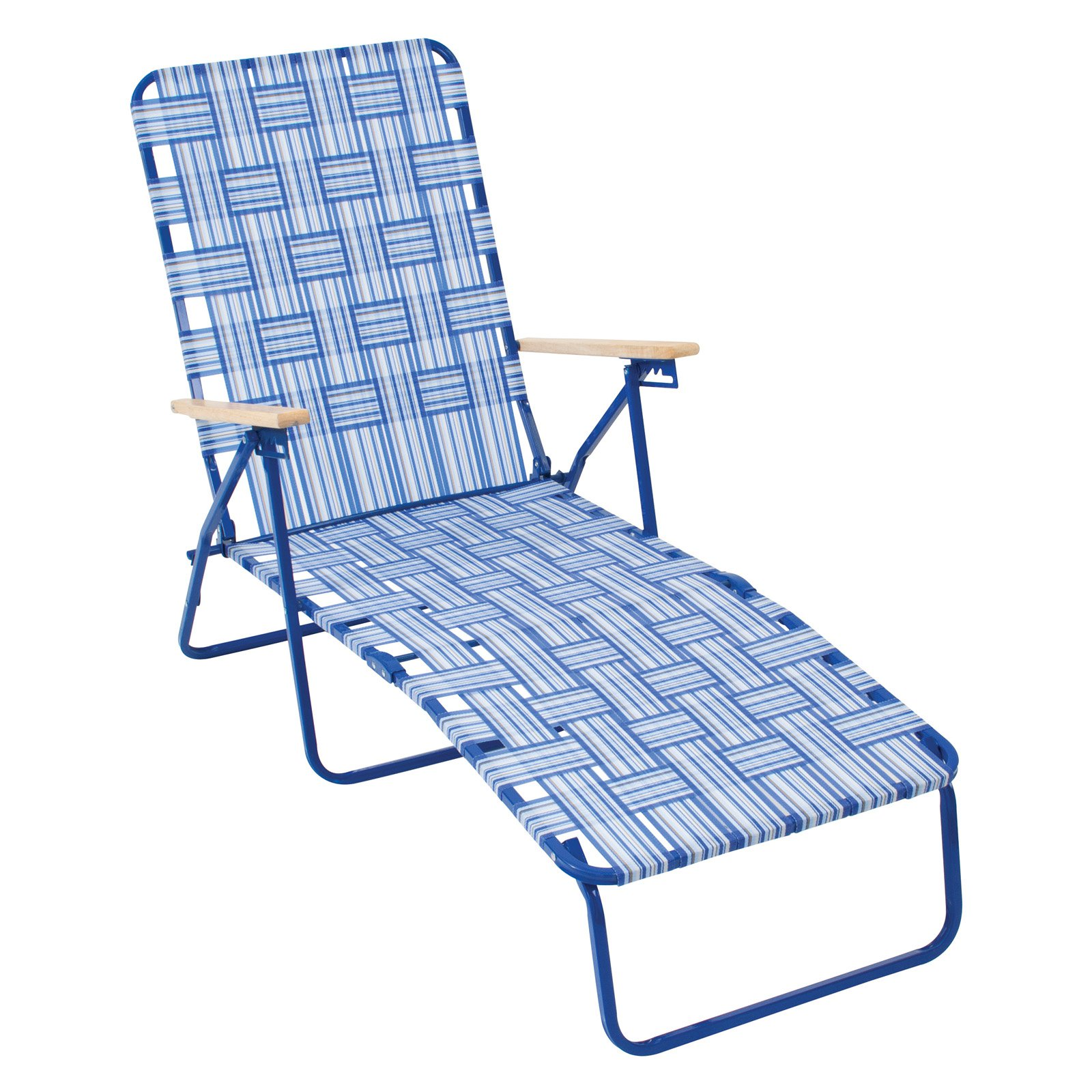 Rio Brands Rio Deluxe Folding Web Chaise Lounge Chair by