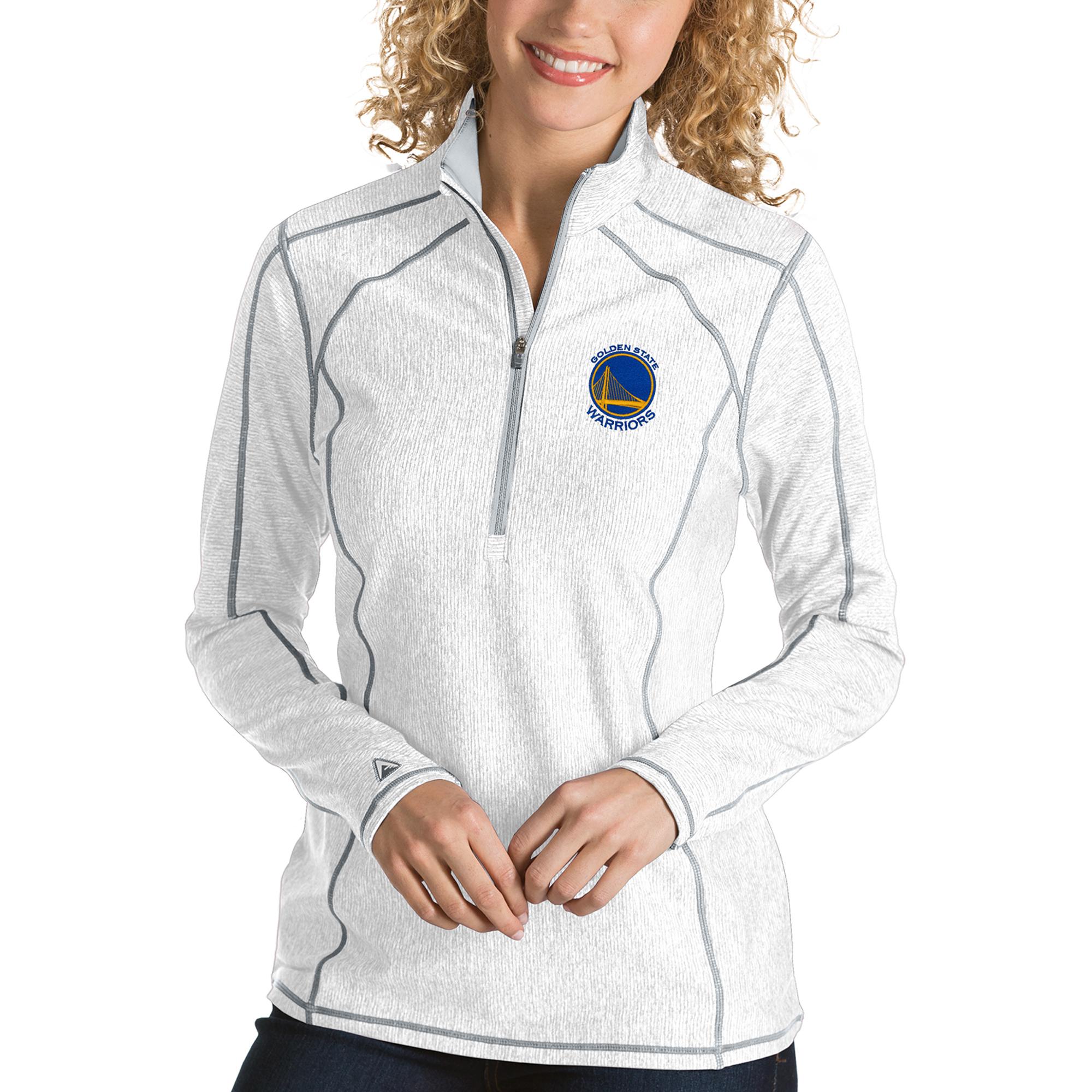 Golden State Warriors Antigua Women's Tempo Half-Zip Pullover Jacket - White