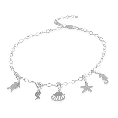 Charm Beach Anklets Ankle Bracelets for Women Foot Jewelry Adjustable Link - Hemp Anklet Bracelet