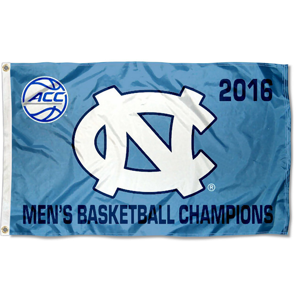 North Carolina Tar Heels ACC Men's 2016 Champions 3' x 5' Pole Flag