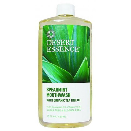 Desert Essence Tea Tree Oil Mouthwash Spearmint 16 Oz Walmart Com