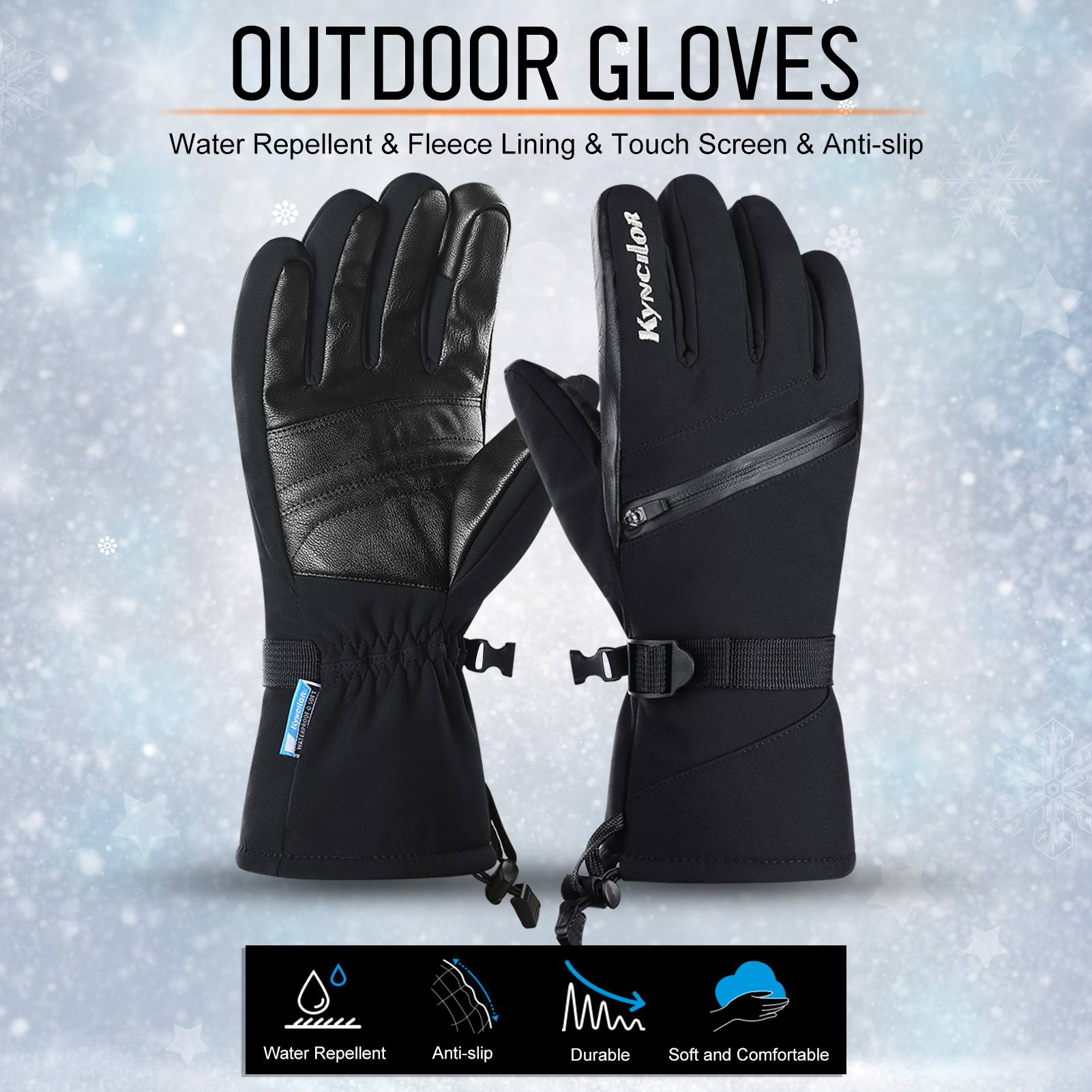 Details about  /Protective Touch screen Cycling Anti Slip Water proof Sports Warm Gloves Men Wom