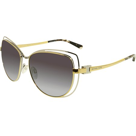 Michael Kors Women's Gradient Audrina MK1013-112011-58 Gold Butterfly Sunglasses ()