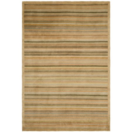 Apricot Stripe - Safavieh  Couture Hand-knotted Tibetan Steve Modern Wool Rug
