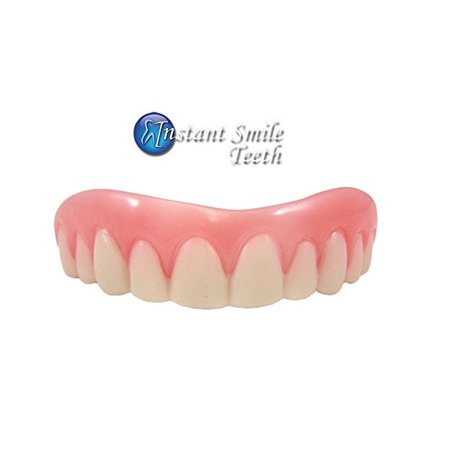 Ti Fake Teeth (Instant Smile Teeth Medium Top Veneers Fake Denture Teeth Photo Perfect)