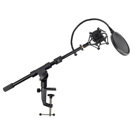 Samson MBA18 Microphone Boom Arm Studio Podcast Mic Stand+Pop (Studio Boom)