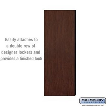 SalsburyIndustries 33305DE-MAH 5 ft. High - 21 in. Deep Designer Wood Locker Double End Side Panel - - Deep Mahogany Wood
