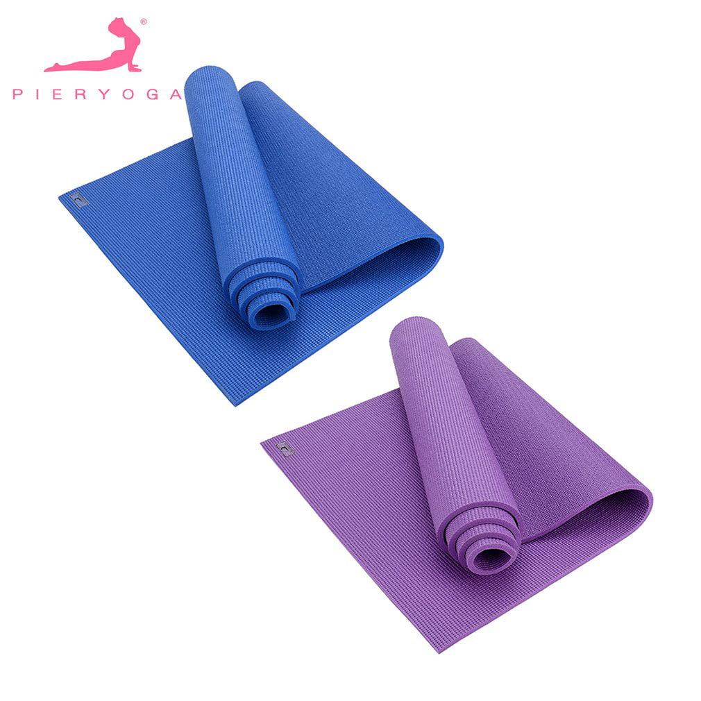 PIERYOGA 8mm Thick Yoga Mat PVC Pure Color Pilates Sports...