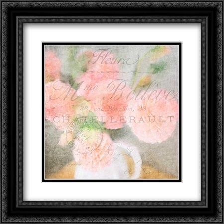 Fleur Postale 2x Matted 20x20 Black Ornate Framed Art Print by Allen, Kimberly ()