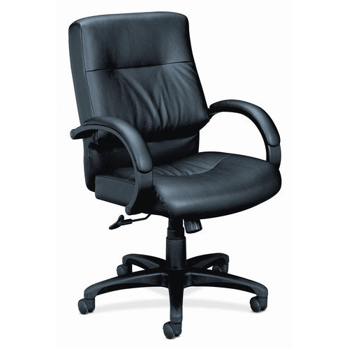 HON Mid-Back Leather Executive Chair with Arms