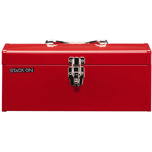 """Stack-On 16"""" Metal Hip Roof Tool Box"""