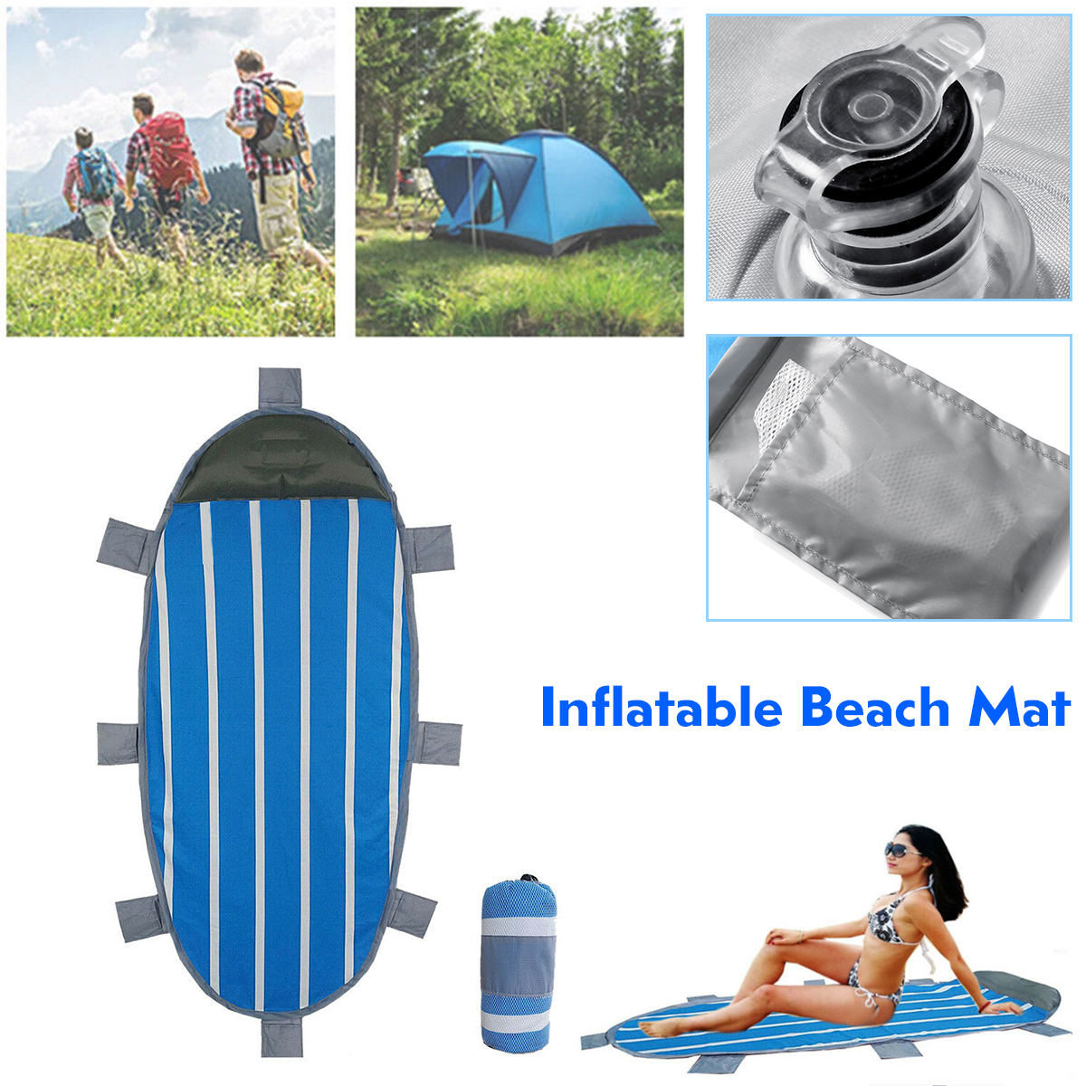 Senmubery Portable Picnic Beach Seat Pad Damp proof Camping Mat Folding Cushion