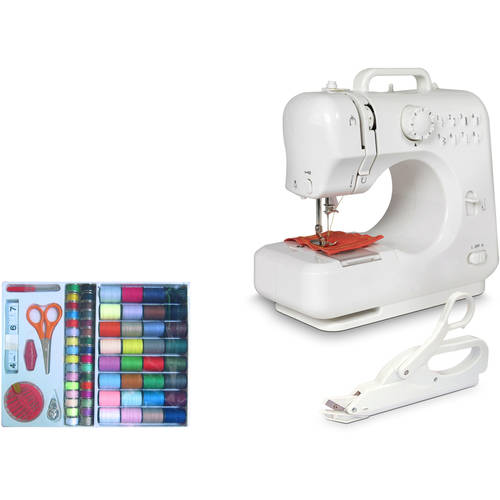 Michley Lil' Sew & Sew Desktop Sewing Machine & Accessories 3-Piece Value Bundle