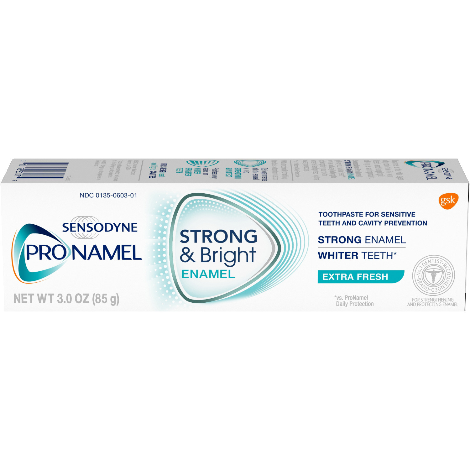 Sensodyne Pronamel Strong & Bright Extra Fresh Fluoride Toothpaste to Strengthen and Protect Enamel, 3 ounce