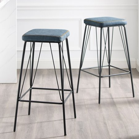 Corvus Moa 30 Inch Faux Leather Backless Counter Bar Stool