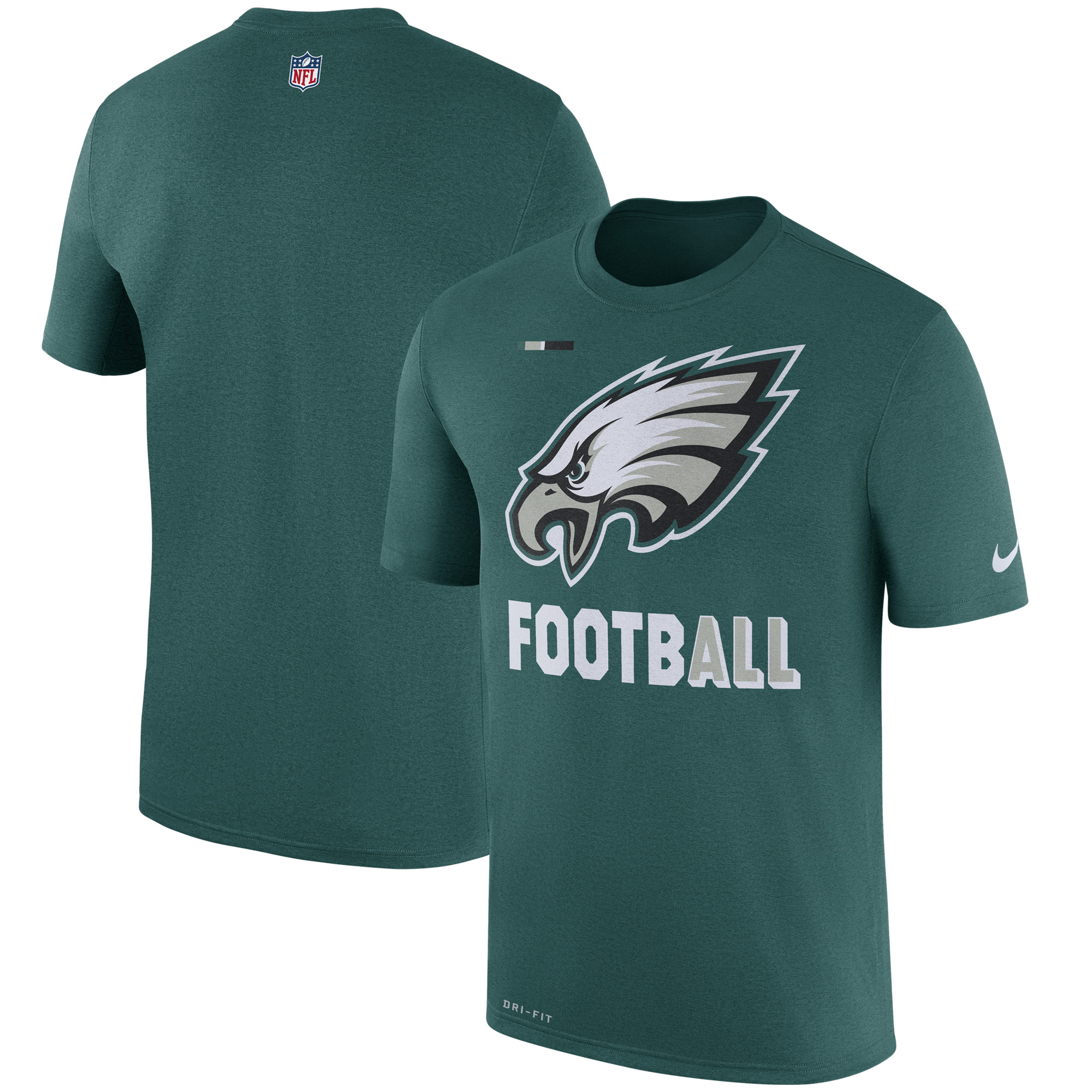 Philadelphia Eagles Nike Sideline Legend Football Performance T-Shirt - Midnight Green