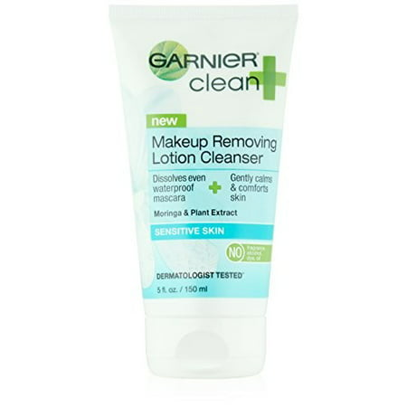 Removing Excess Fluid (Garnier Clean+ Makeup Removing Lotion Cleanser Sensitive Skin, 5 Fluid Ounces (Packaging May)