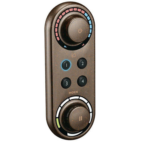 Moen TS3415ORB Thermostatic Digital Control Unit with 4 Preset Functions, Available in Various Colors