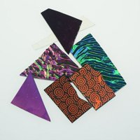 5 Bags Dichroic Bits and Pieces COE 90 Fusible Glass, COE90 Glass By Hensom From USA