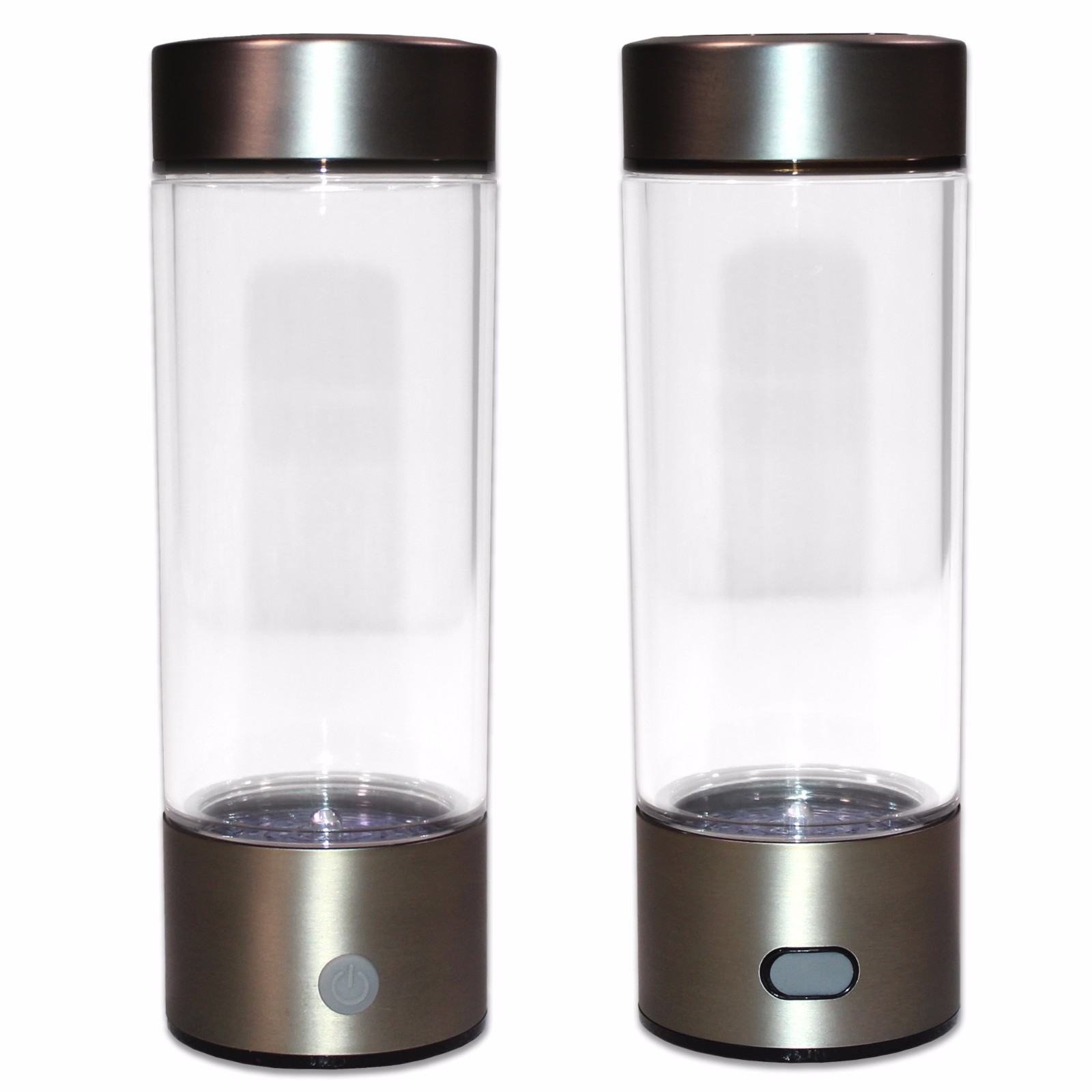 Portable Hydrogen Transparent Water Bottle Cup Recharge Hydrogen Rich Water Ionizer Maker Generator 450mL Capacity Battery Light Healthy Water Purifier Filter Treatment