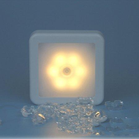 6 Led Infrared Night Vision (6 LED Wireless PIR Auto Motion Sensor Infrared Night Light Cabinet Stair Lamp)