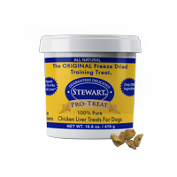 Stewart Pro-Treat Freeze Dried Chicken Liver 16.8 oz. Tub
