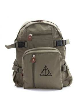 2ce670aaa75 Product Image Harry Potter Deathly Hallows Symbol Military Backpack Durable  School Book Bag
